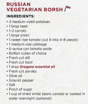 Borsch ingredients